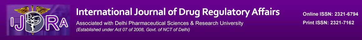 International Journal of Drug Regulatory Affairs